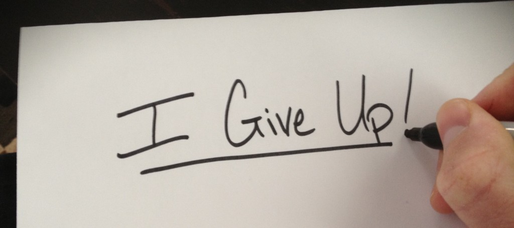 When should I give up? Picture
