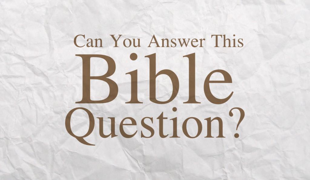 Bible Question