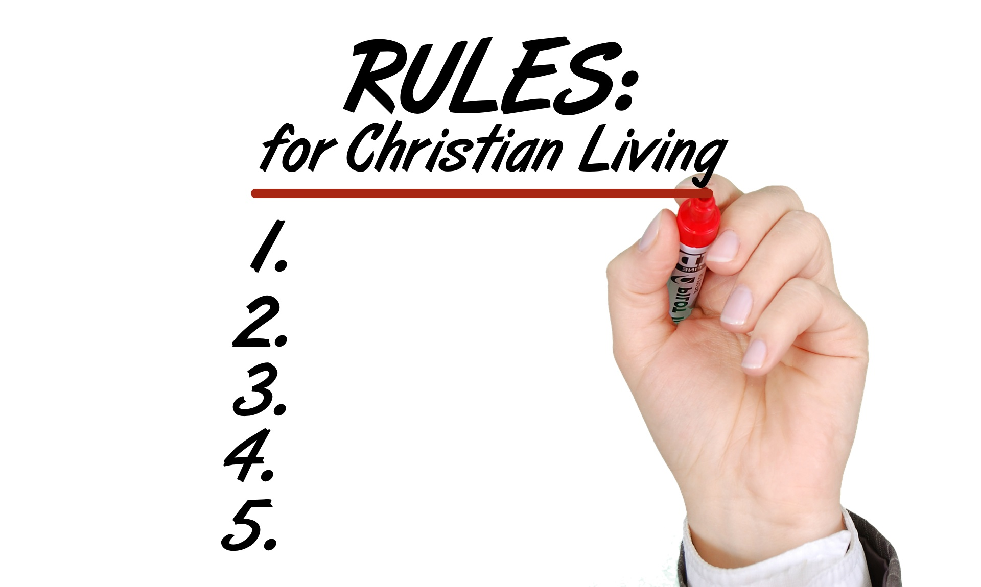 Christianity is Not About Rule-Keeping