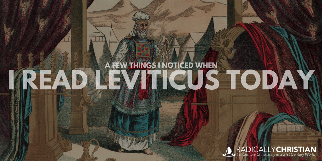 A Few Things I Noticed When I Read Leviticus Today