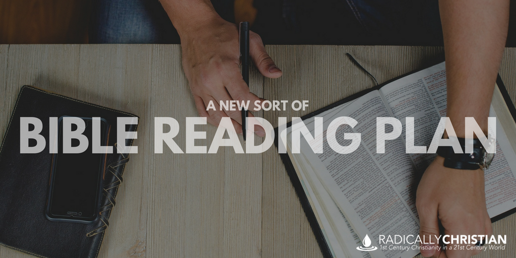 A New Sort of Bible Reading Plan